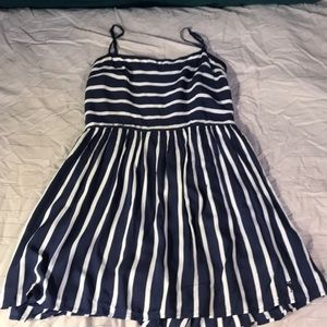 Blue and white striped Abercrombie dress